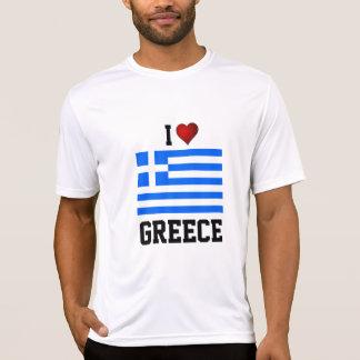PISCINA: EU AMO o t-shirt da bandeira da PISCINA Camiseta