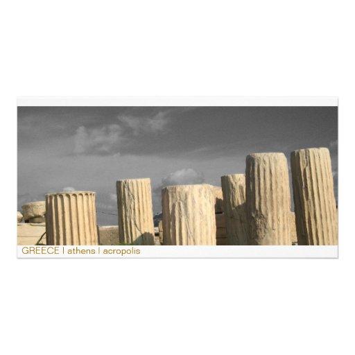 PISCINA mim Atenas mim acrópole Cartoes Com Foto Personalizados