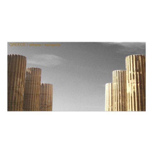 PISCINA mim Atenas mim acrópole Cartão Com Fotos Personalizado