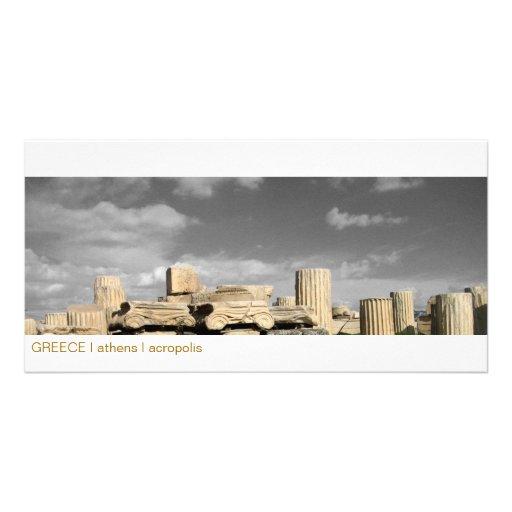 PISCINA mim Atenas mim acrópole Cartao Com Foto Personalizado