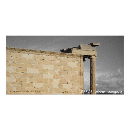 PISCINA mim Atenas mim acrópole Cartões Com Foto Personalizados
