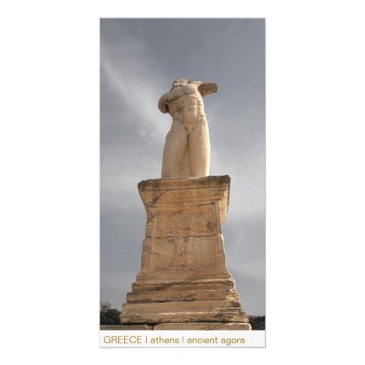 PISCINA mim Atenas mim ágora antiga Cartoes Com Foto Personalizados