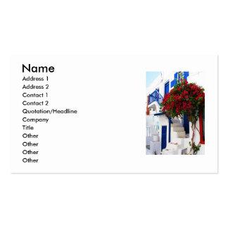 Piscina - Mykonos Modelo De Cartões De Visita