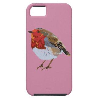 Pisco de peito vermelho cor-de-rosa Funky Capa Tough Para iPhone 5