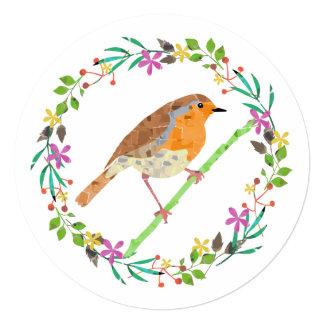 Pisco de peito vermelho o pássaro do convite da