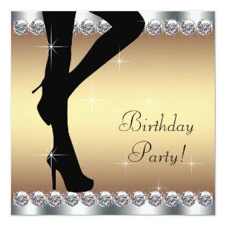 Piso na festa de aniversário convite quadrado 13.35 x 13.35cm