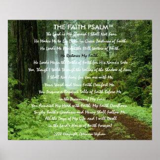 Pista da floresta do salmo da fé de WarriorsCreed Pôsteres