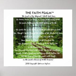 Pista da floresta do salmo da fé de WarriorsCreed Posters