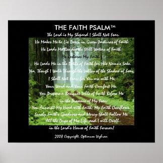 Pista da floresta do salmo da fé de WarriorsCreed Poster