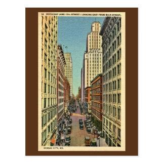 Pista Kansas City da anágua do vintage, MO Cartão Postal