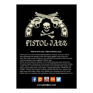 PISTOL JAZZ POSTER (for shops)