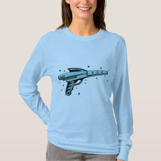 Pistola do laser da arma de raio da estrela camiseta