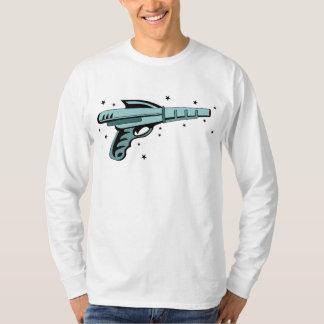 Pistola do laser da arma de raio da estrela camisetas