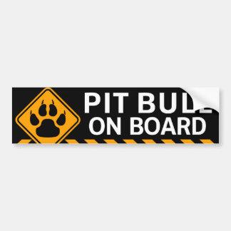 Pitbull a bordo adesivo para carro