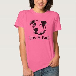 Pitbull americano do buldogue de Luv-UM-Bull Tshirts