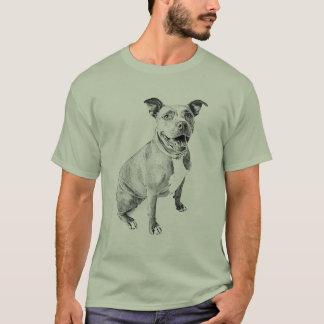 Pitbull amigável camiseta