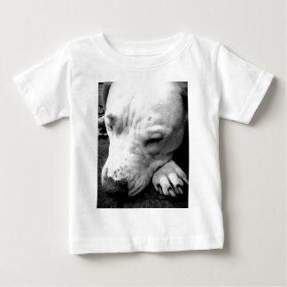 pitbull do branco do cão da cicatriz de Harry Camiseta Para Bebê