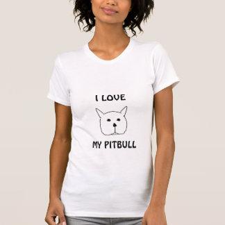 Pitbull, EU AMO, MEU PITBULL Camisetas