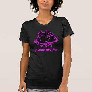 Pitbull eu amo meu poço camiseta