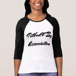 Pitbull pela associação tshirt