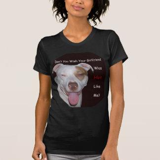 Pitbull quente como mim t-shirt