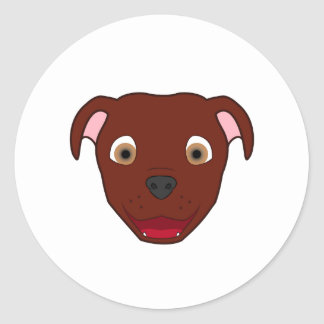 Pitbull vermelho adesivo
