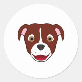 Pitbull vermelho com chama adesivo