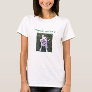 Pitbulls é t-shirt do amor camiseta