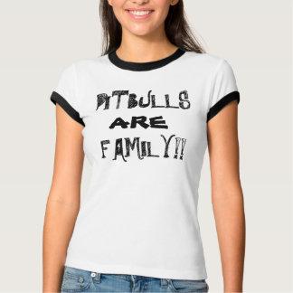 PITBULLS SÃO mulheres do t-shirt da FAMÍLIA