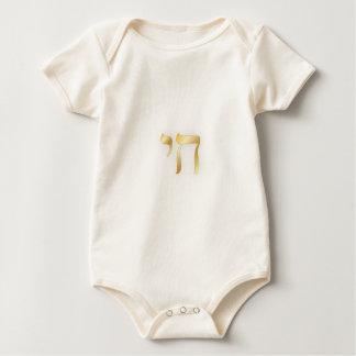 PixDezines Chai, hebraico Body Para Bebê