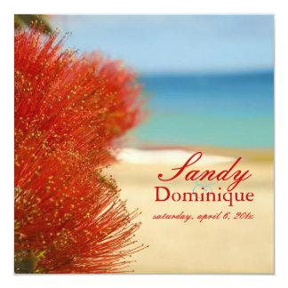 PixDezines Ohia/praia/casamento tropical Convite Personalizado