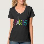 PixDezines Paris, pia batismal de Eiffel Tshirt
