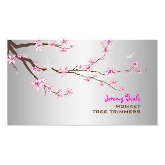 PixDezines sakura/♥♥♥ cor-de-rosa dos ajustadores Cartão De Visita