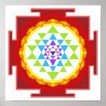 PixDezines Sri Yantra/meditação/Chakra Pôster