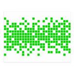 Pixéis verdes cartão postal