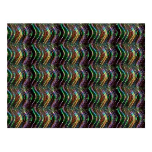 Pixel holográfico brilhante escuro do teste padrão cartão postal