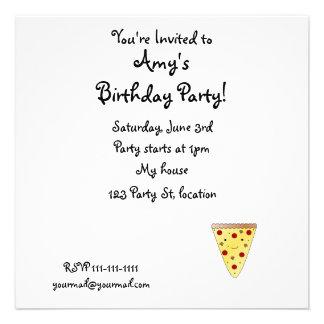 Pizza bonito convite personalizado