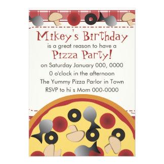 Pizza combinado convite personalizados