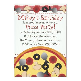 Pizza combinado convite 12.7 x 17.78cm