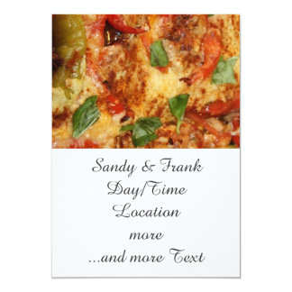 Pizza Convite 12.7 X 17.78cm
