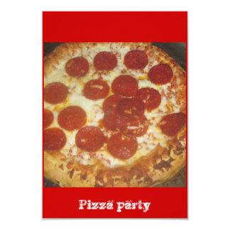 Pizza Convite 8.89 X 12.7cm