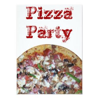 Pizza da combinação convite 13.97 x 19.05cm