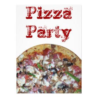 Pizza da combinação convites personalizado