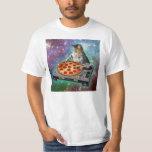 Pizza de DJs do gato do espaço Tshirts