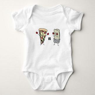 Pizza de Pepperoni CONTRA o Burrito: Mexicano Body Para Bebê