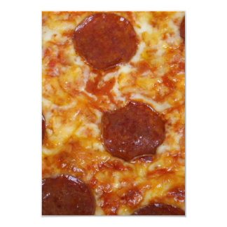 Pizza de Pepperoni Convite 8.89 X 12.7cm