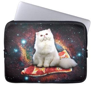 Pizza do gato do espaço bolsa e capa para computadore