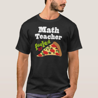 Pizza (engraçada) do professor de matemática camiseta