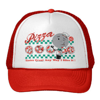 Pizza toda a maneira eu corto-a chapéu retro bones