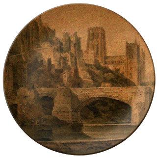 Placa clássica da catedral de Durham Prato De Porcelana